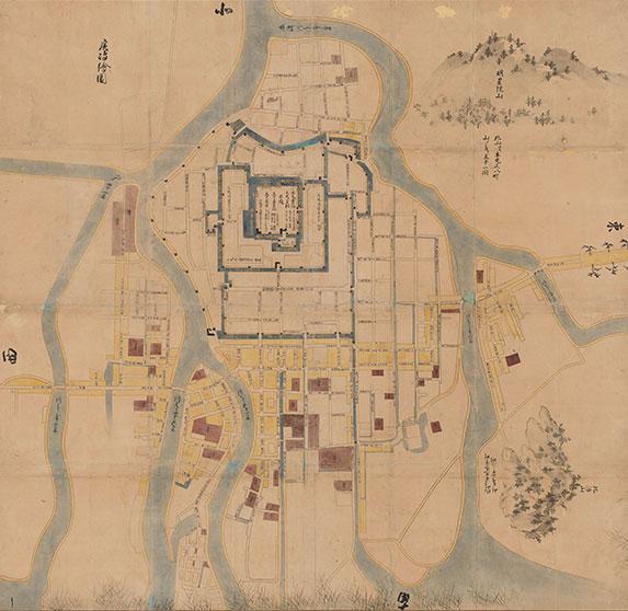 広島絵図( 元和五年御入国之砌御城下絵図)